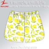 Healong Top Brand Diseñador Dye Sublimation Beach Shorts