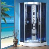 完全なガラスシャワーのキャビネット部屋を滑らせる角の浴室の蒸気