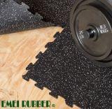 Mattonelle di pavimento di gomma di collegamento per ginnastica
