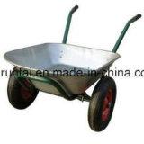 Wheelbarrow quente da construção da roda do ar do dobro do Sell (Wb6406)