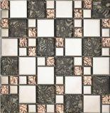 azulejo de mosaico del vidrio de 8m m, mosaico de la pared para la cocina del cuarto de baño