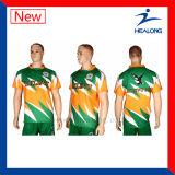 Healongのスポーツの裂保護の専門のデジタル印刷のラグビージャージー