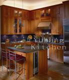 新しいデザイン純木の食器棚の標準的な台所家具#240
