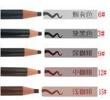 Lápis coloridos macios para o cofre forte da composição no lápis de sobrancelha impermeável da arte no. 1818 cosméticos da pele