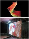 투명한 연약한 LED 커튼에 의하여 구부려지는 LED 영상 커튼