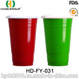 LidのBPA Free Plastic Double Wall Solo Cup