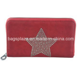 Wa6145 Hotsale Leather Zipper Ladies Wallets Leather Wallets