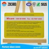 Cartão de presente de banco de PVC de preço de fábrica