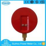 manometro d'acciaio rosso del refrigerante di caso di prezzi di fabbrica di 60mm