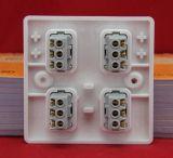 864 interruptores de sentido único de /Wall do interruptor de quatro grupos/um interruptor do grupo