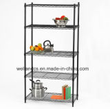 Shelving do fio do metro do metal da HOME do revestimento do pó de 5 séries (LD9035180A5E)