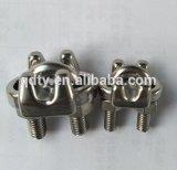 ステンレス鋼のRinggingのハードウェアワイヤーロープクリップまたはワイヤーロープクランプまたはケーブルグリップ