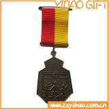 Zoll 3D Gold Medal mit Short Ribbon (YB-MD-41)
