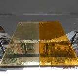 plata de 1m m y hoja de acrílico de oro del espejo