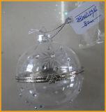 De hangende Duidelijke Ornamenten van het Glas van Kerstmis