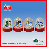 Crystal personalizzato Electric Snow Globe con il LED Light Holiday Gifts