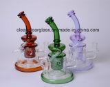 Neuer Großhandelsentwurf farbiger Glaswasser-Pfeife-Recycler