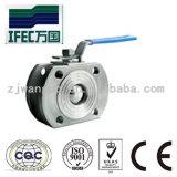 Tipo sanitario vávula de bola fina (IFEC-BV100015) de la oblea inoxidable del acero