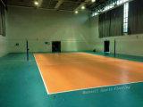 Étage chaud de volleyball de roulement de PVC de la vente bon marché 2017