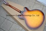 Guitare électrique Sunburst de double cru du trou F Es-335 (TJ-222)