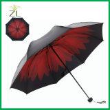 [أنتي-سون] ثلاثة ثني طبع مظلة مع شركة علامة تجاريّة, ثلاثة ثني مظلة مع مقبض بلاستيكيّة
