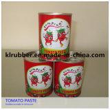 Pasta de tomate vegetal enlatada com material fresco do tomate