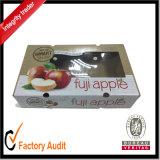Caja de cartón para la fruta, rectángulo de empaquetado de Apple de la ventana clara