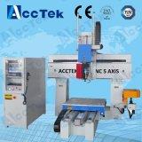 Миниый маршрутизатор CNC машины 5 осей с осью изменителя Akm1212-5 инструмента