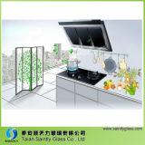 panneau plat en verre de capot de chaîne en verre Tempered de capot de chaîne de cuisine de 5mm