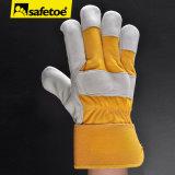 Luva de couro industrial do trabalho da segurança (FL-1020)