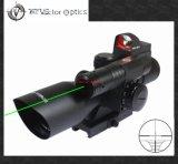 Sistema ótico 2.5-10X40 do vetor que caça o laser verde Riflescope com mini vista de arma vermelha do espaço do PONTO
