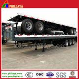 3 châssis à plat de bas de page de semi-remorque de conteneur de transport d'axes