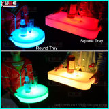 El vino plástico de la placa del cargador del LED encajona las bandejas del jugo de fruta con el LED