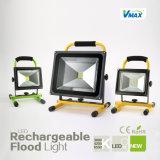 10W 3,5 horas de luz de inundación del LED recargable portátil