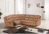 Sofá de 1+3 Seater, sofá de cuero moderno, tipo manual sofá del Recliner (GA01)