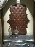 Panneau de mur acoustique en 3D Panneau mural Panneau décoratif Porte en soie en cuir PU