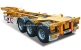 Container a base piatta Semi Trailer 40FT/Skelete Container Semi Trailer 3 Axles