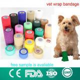 Fasciatura coesiva del controllare dell'animale domestico flessibile veterinario dell'involucro