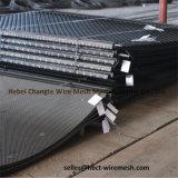 鉱山のスクリーニングのためのひだを付けられた織り方の金網