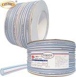 Tonydx 유연한 PVC Cleart 끈목에 의하여 강화되는 호스