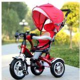 4 в 1 трицикле младенца, прогулочная коляска младенца, трицикл детей Muntifunction с автошиной воздуха