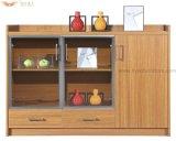 Armário de chá de madeira com portas de vidro para mobiliário de hotel (HY-C07)