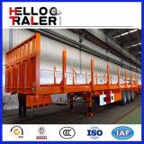 3 de Aanhangwagen van de Lading van het Vervoer van assen 40FT met Omheining