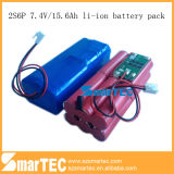 Li-ione Battery 7.4V 18650 2s6p per Digital Products