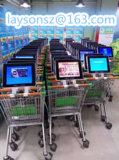 Магазинная тележкаа супермаркета LCD рекламируя Signage цифров машины