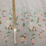女の子の衣服のための花の刺繍のレースファブリック