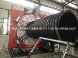 PEのHDPEの排水の下水の螺線形の管の放出ライン機械2400mm 800mm