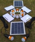 LED 1W 2W 3W Fixed Optional를 가진 3PCS Solar LED Lighting Kits System
