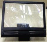 Tela maior francesa preta de Fresnel que dobra o expansor portátil do Magnifier HD da tela do diodo emissor de luz LCD do telefone de pilha da lente de HD