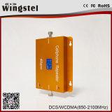 Repetidor dual de la señal de la venda 1800/2100MHz 2g 3G 4G con las antenas